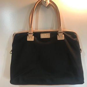 Kate Spade Tan Leather and Black Nylon Bag